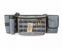 """Сумка рыболовная поясная """"СЛЕДОПЫТ"""" Fishing Belt Bag, 74х22х10 см, цв. серый"""