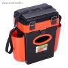 Ящик зимний Helios 10л (Тонар)  FISHBOX оранжевый 23х31/43х40см.