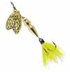 Блесна Mepps BUG YELLOW MAY №1 (золото, жёлтый сердечник, мушка) 4 гр.