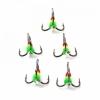 Крючок-тройник светофор Namazu с каплей и камнем, размер 12 , цвет YG (1 шт.)